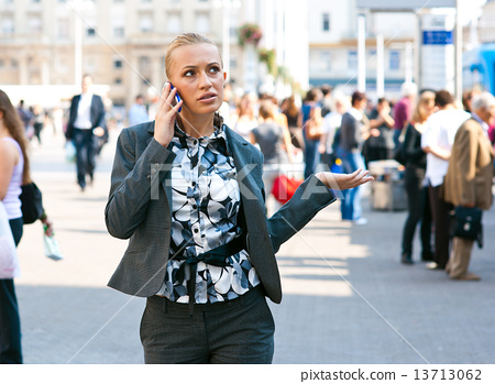 woman with mobile phone 13713062