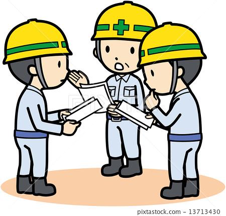 vector, vectors, blue collar worker 13713430
