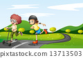 road, playing, play 13713503