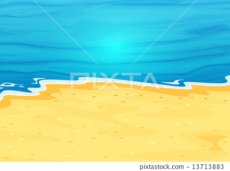 A beautiful view of the beach 13713883