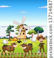 farm, farmer, animals 13714687
