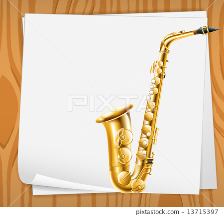 An empty paper with a trombone 13715397