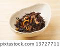 开水焯过的食物 炖 煮羊栖菜 13727711