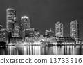 boston, harbor, financial 13733516
