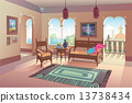Light Living Room in Oriental Style 13738434