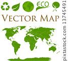 world, icons, map 13745491