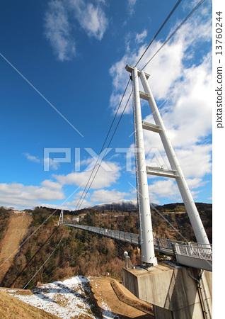 Kokonoe Yumezu suspension bridge ~ main pillar ~ 13760244