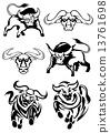 公牛 黑色 威嚇 13761698