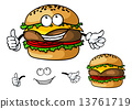 汉堡 芝士汉堡 奶酪 13761719