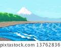 후지산과 바다 13762836