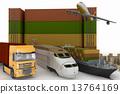 truck, ship, transports 13764169