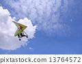 Flying Motorized hang glider 13764572