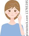 患有白髮的女性 13765395