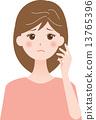 患有白髮的女性 13765396