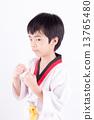 little boy in a Taekwondo suit 13765480