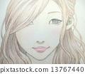 hand drawn, woman, lady 13767440