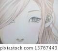 hand drawn, woman, lady 13767443