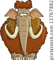 Shaggy Mammoth on a white background 13767882