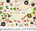 准备 蔬菜 矢量 13774559