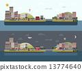 도시 풍경, 녹색, 생활 13774640