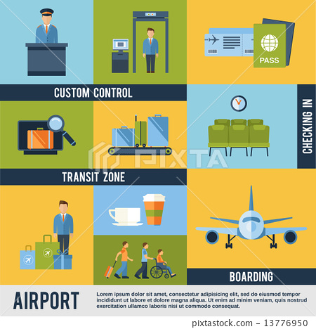 Airport Icons Set 13776950