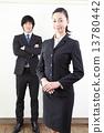商人·商業女性的西裝男女 13780442