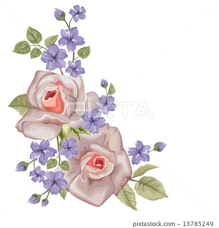 Happy Mother's Day floral greeting card with roses. Perfect for invitations of the wedding, birthday 13785249