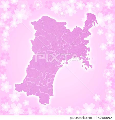 Miyagi Prefecture Map 13786092