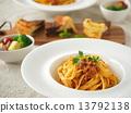 午餐 意大利面 番茄肉醬 13792138
