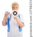senior, doctor, stethoscope 13798253