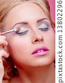 applying, apply, makeup 13802296