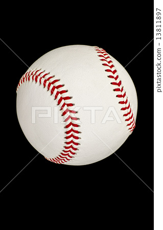 야구 공 검정 배경 13811897
