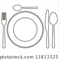 fork, knife, spoon 13813325