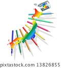 Vector Japan Paint Concept 13826855
