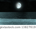 moon in the night sky 13827619