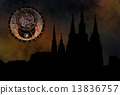 Prague casle - Cathedral of St Vitus - monuments of mysterious c 13836757