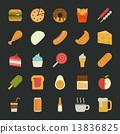Food  icons , flat design 13836825