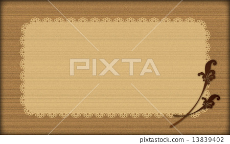 木紋風格×蕾絲 13839402