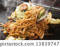 fried noodle, yakisoba, okonomiyaki 13839747