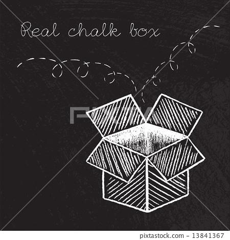 Box drawn in chalk vector 13841367