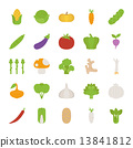 Vegetables  icons , flat design 13841812