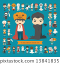 Set of 40 halloween costume characters 13841835