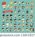 Set of 50 professions 13841837