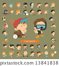 Set of 42 Sport characters 13841838