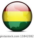 bolivia, flag, map 13842082