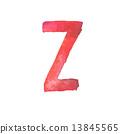 z, letter, watercolor 13845565