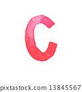 letter, watercolor, c 13845567