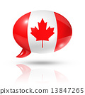 Canadian flag speech bubble 13847265