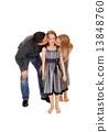 daughter, kiss, parents 13848760