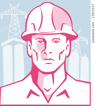 Construction Engineer Worker Hardhat 13852637
